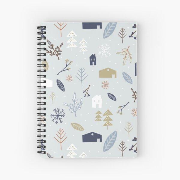 Winter Village Spiral Notebook