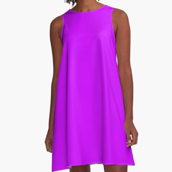 Neon Lila A-Linien Kleid