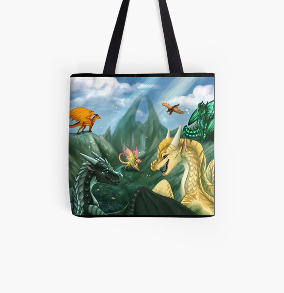 Wings of Fire - Welcome to Jade Mountain All Over Print Tote Bag