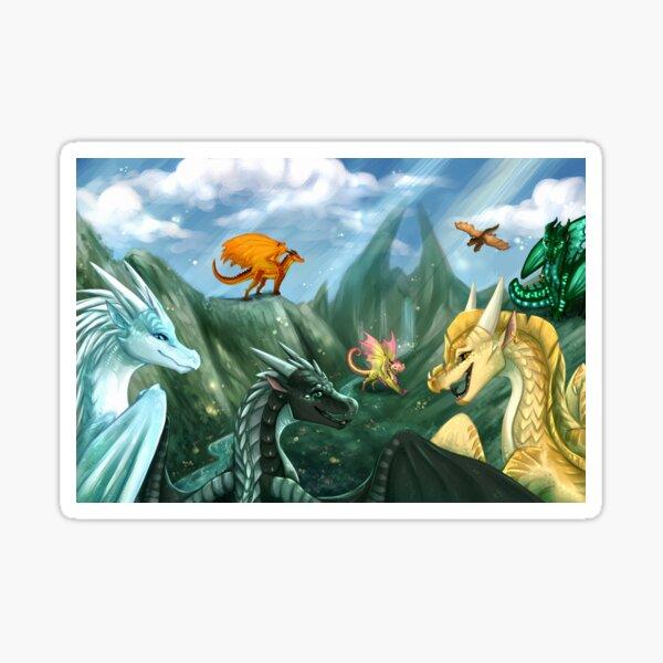 Wings of Fire - Bienvenue à Jade Mountain Sticker