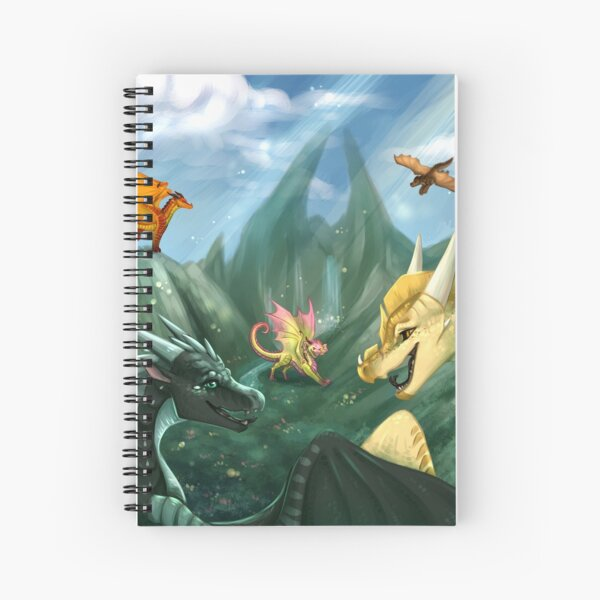 Wings of Fire - Welcome to Jade Mountain Spiral Notebook