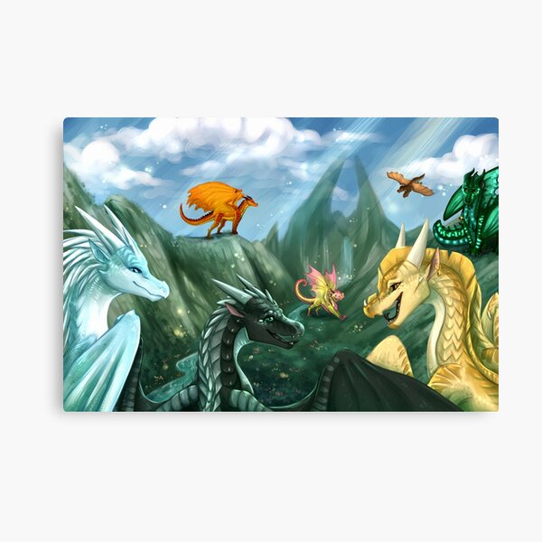 Wings of Fire - Welcome to Jade Mountain Canvas Print