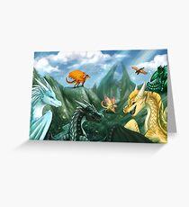 Wings of Fire - Willkommen auf dem Jadeberg Grußkarte
