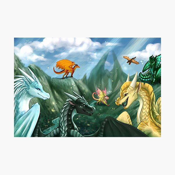 Wings of Fire - Welcome to Jade Mountain Photographic Print