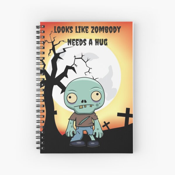 Looks Like Zombody Needs a Hug - Cute Zombie Spiral Notebook