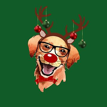 Reindeer Christmas Dog by 4Craig