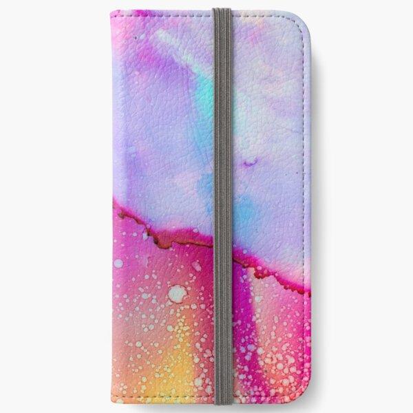 Bright Watercolour Design iPhone Wallet