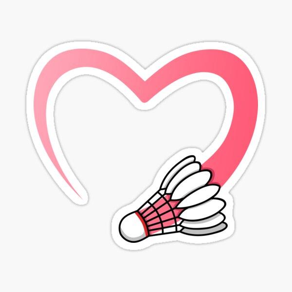 <3 Badminton Sticker