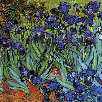 Van Gogh Irises Deep Purple by Greenbaby