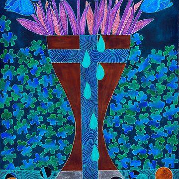 BLOODY BLUE TULIPS by JaneAParis