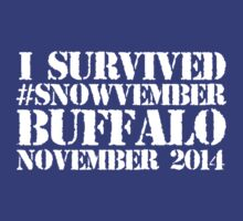 Cool 'I survived #snowvember Buffalo November 2014' Snowstorm T-Shirt and Accessories | Unisex T-Shirt