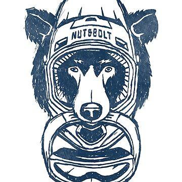 Helmet Bear - Downhill Mountain Biking by nutandbolt