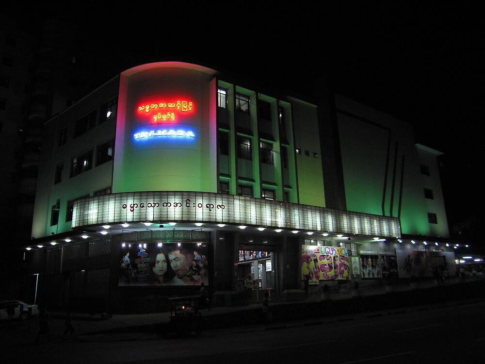 Thamada Cinema - Yangon, Myanmar by John Meckley