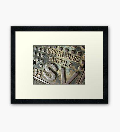Brickhouse Ductile Framed Print