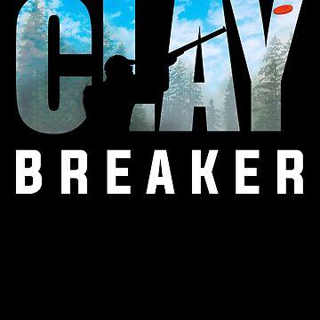 Clay Breaker -  Clay Pigeon Shooting Shot Gun Skeet Trap Target Gifts by vince58