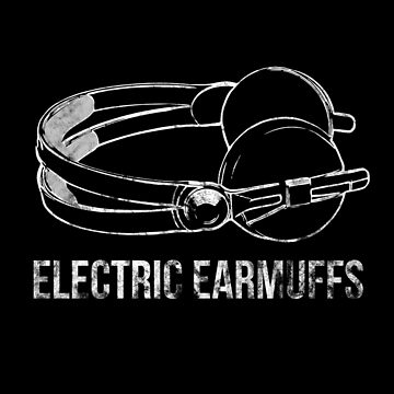 Funny Electric Earmuffs Distressed Look Stylish T-Shirt Euphemism Tees With Headphones by mightyb