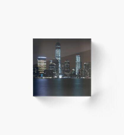 New York Skyline Acrylic Block