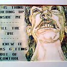 This thing Building up inside me - Detail of HATE by DreddArt