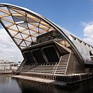 The new Crossrail Station, West India North Dock, Canary Wharf, London by John Gaffen