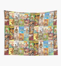 Vintage Gay Pulp Fiction Collage Wall Tapestry
