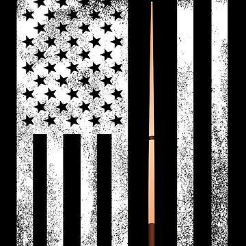 Billiards USA Flag Design by kudostees