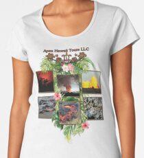 Apau Hawaii Tours - Lava Day Cycle Huddle Women's Premium T-Shirt