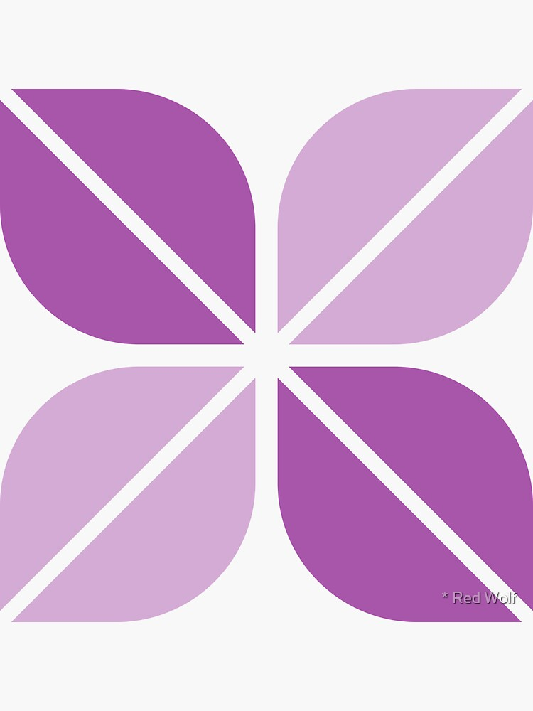 Geometric Pattern: Leaf: Purple/White by redwolfoz