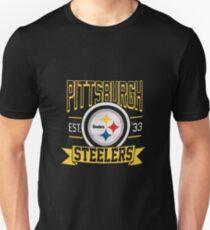 3647fdee40a Men s Pittsburgh Steelers Black Banner T-Shirt Unisex T-Shirt