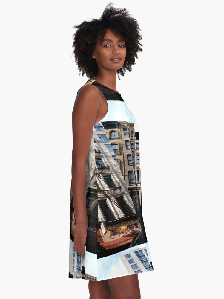 Alternate view of New York City, #New #York #City, #NewYorkCity, #NewYork, #НьюЙорк A-Line Dress