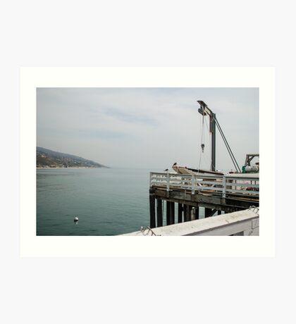 Malibu Pier Art Print