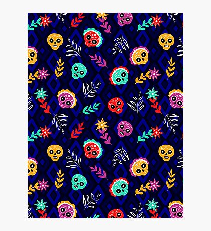 Fiesta Skulls #redbubble #skulls Photographic Print
