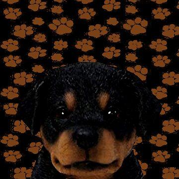 Rottweiler Puppy Art by markstones