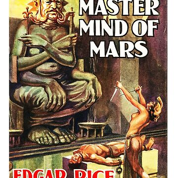 The Master Mind of Mars Edgar Rice Burroughs Book Cover by buythebook86