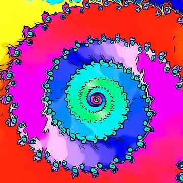 Spiral fractal art abstract digitalart tshirt gift by Netsrikfa