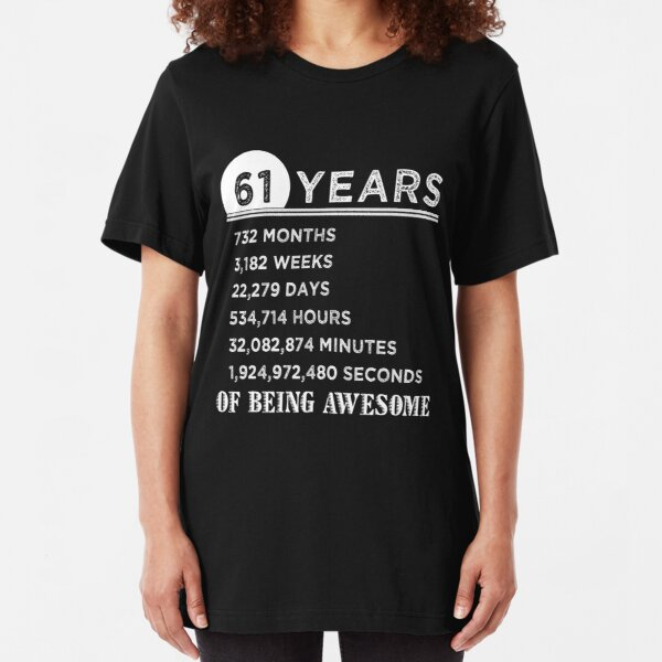 61st 61 Years Old Sixty First Birthday Presents Womens Funny Awesome T-Shirt