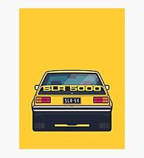 SLR 5000 Car - Rear Yellow Photographic Print