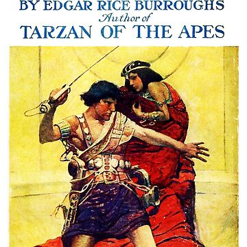 A Princess of Mars Edgar Rice Burroughs Book Cover by buythebook86
