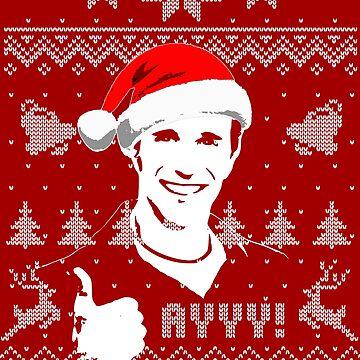 Ayyy Fonzie Parody Christmas Shirt by idaspark