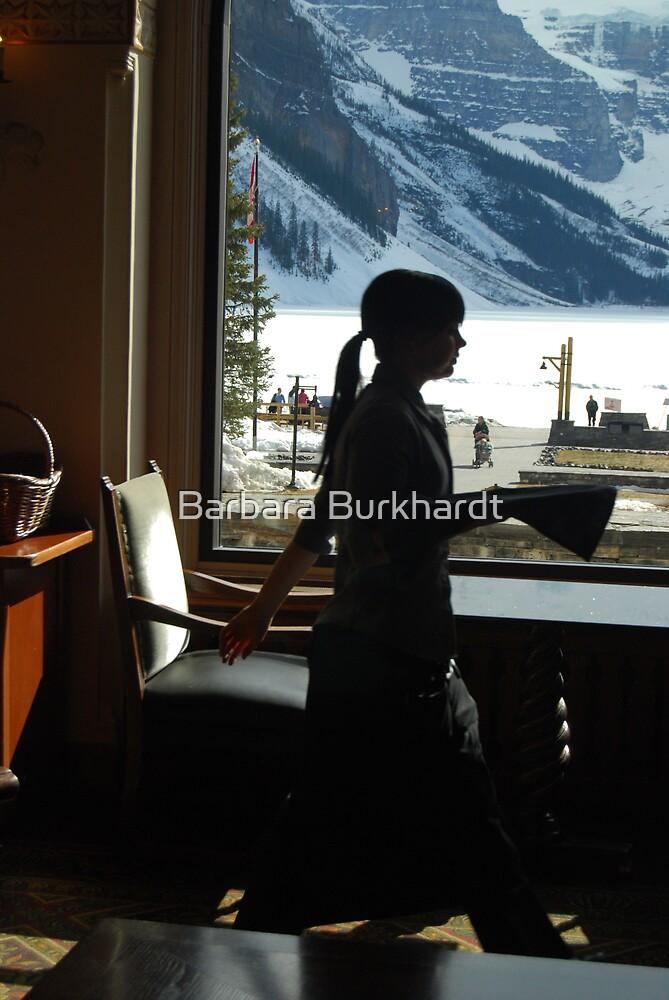 A Work Space ~ Lake Louise Window Series by Barbara Burkhardt