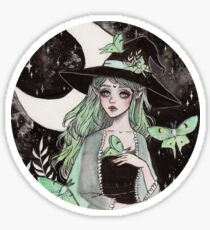 Luna Motte Hexe Sticker