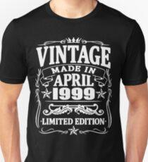 vintage since april 1999 Unisex T-Shirt