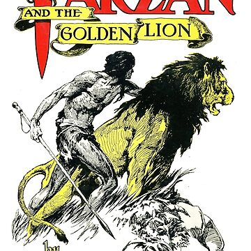 Tarzan and the Golden Lion Edgar Rice Burroughs Book Cover by buythebook86