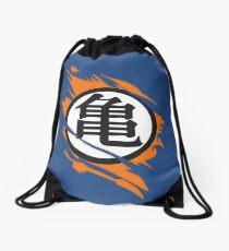 Goku Kame Symbol Ripped Design Drawstring Bag