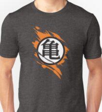Goku Kame Symbol Riss Design Slim Fit T-Shirt