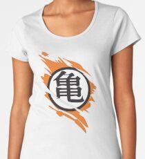 Goku Kame Symbol Ripped Design Women's Premium T-Shirt