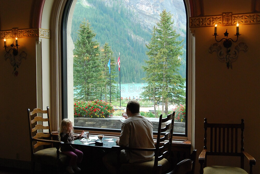 Quality Time - Lake Louise Window Series by Barbara Burkhardt