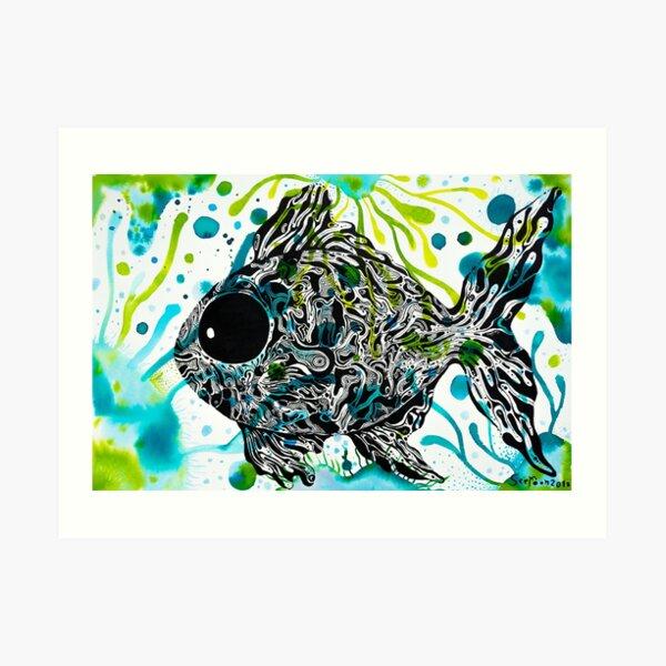 Home of Fish Green aquatic plant : House of hope Series Java barb, Silver barb Fish  Art Print