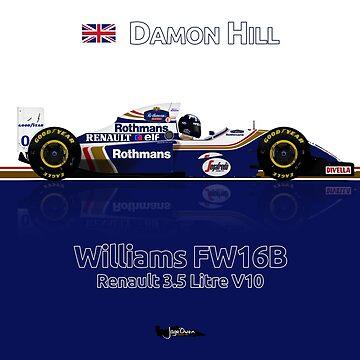 Formula 1 - Damon Hill - Williams FW16B by JageOwen
