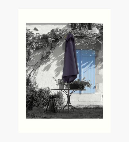 Summer Blues - Parasol and Shutters Art Print
