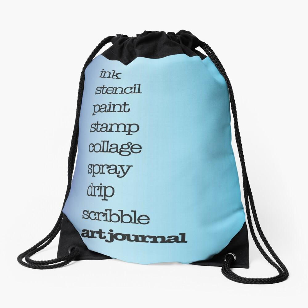 Just art journal! Drawstring Bag Front